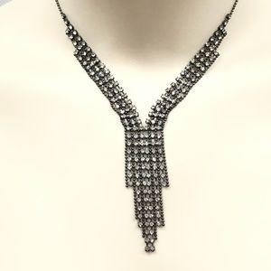 Art Deco style rhinestone necklace
